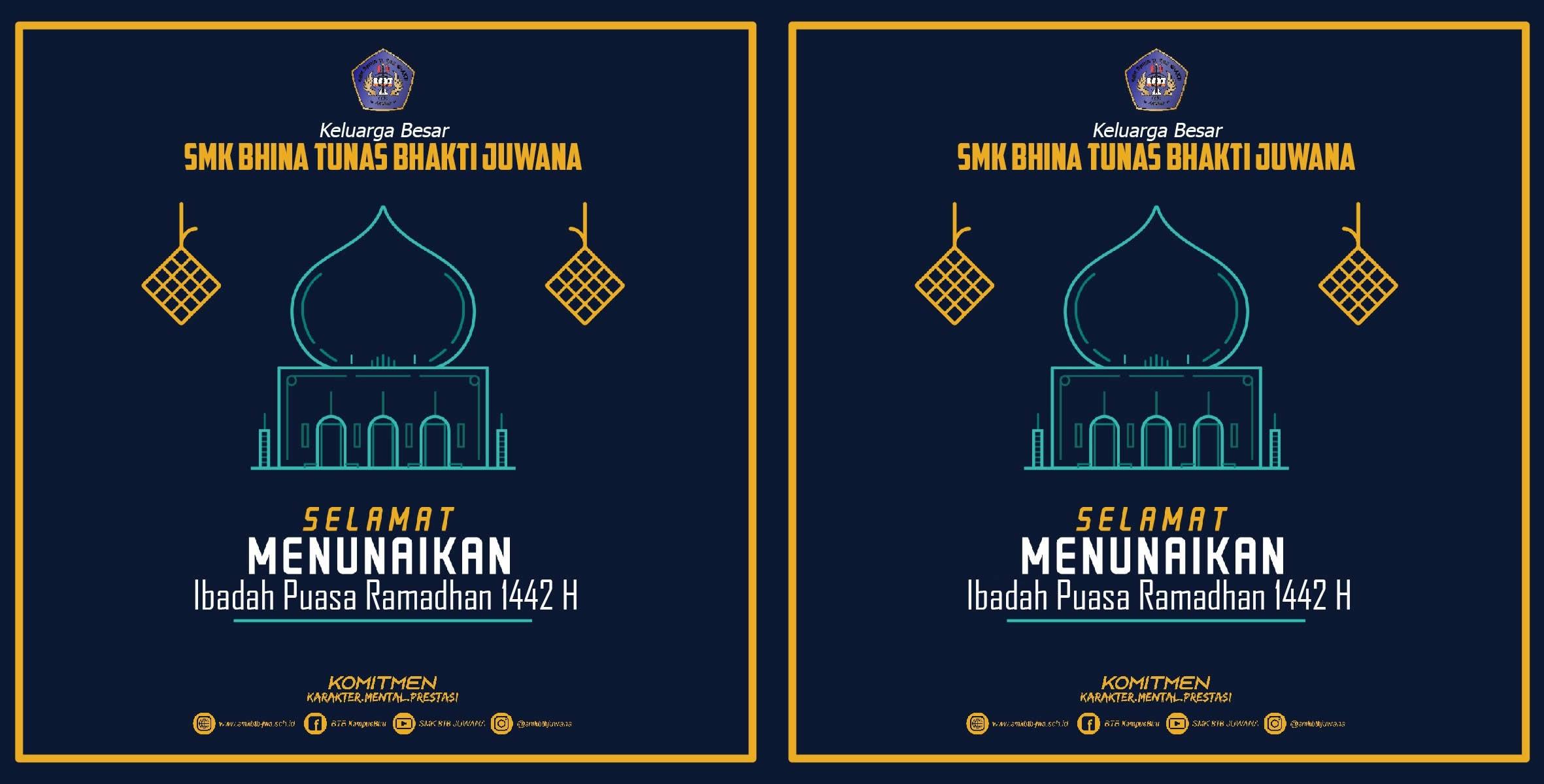 Marhaban ya Ramadhan, Selamat menunaikan Ibadah Puasa 1442 H